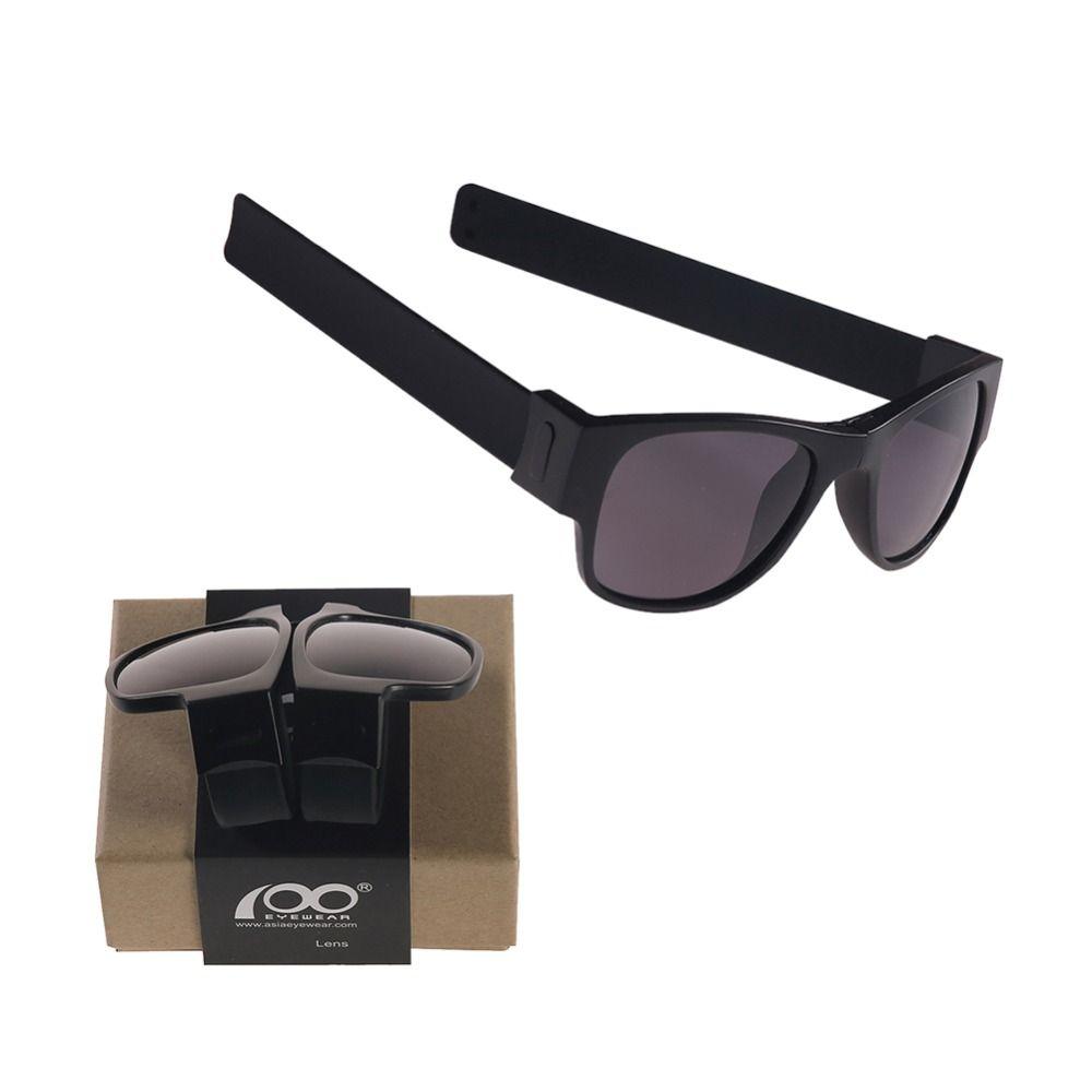 100 lunettes Brevet Designer Portable Slap Pliage lunettes de Soleil avec le Cas Protable Pliable Sport Titulaire Lunettes de Soleil