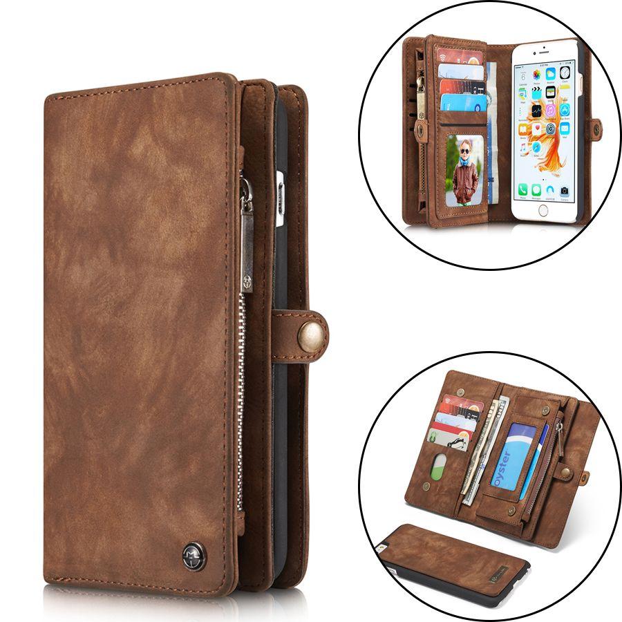 Cas En Cuir de luxe Pour iPhone X XR XS Max 10 8 7 6 6 s Plus Flip Cas Portefeuille de Couverture aimant Cas de Téléphone D'affaires Pour l'iphone 7 Plus