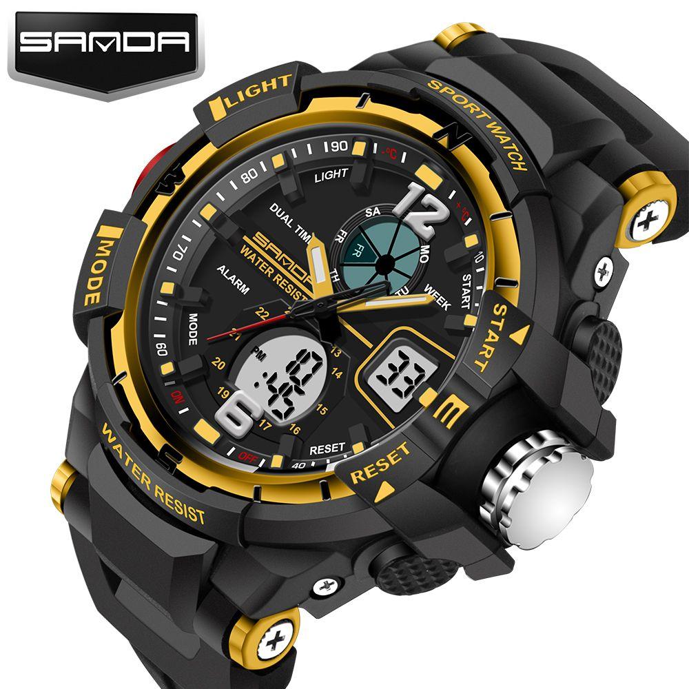 Sanda Sale 2017 New Brand Fashion Watch Men G Style Waterproof Sports Military Watches S-shock Men's Luxury Quartz Led Digital