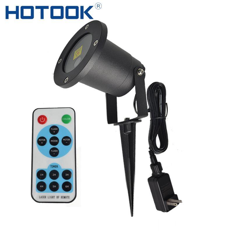 HOTOOK лазерный свет лужайки проектор светодиодный Рождество огни IP65 Водонепроницаемый пейзаж лампа Дистанционное управление для сада откры...