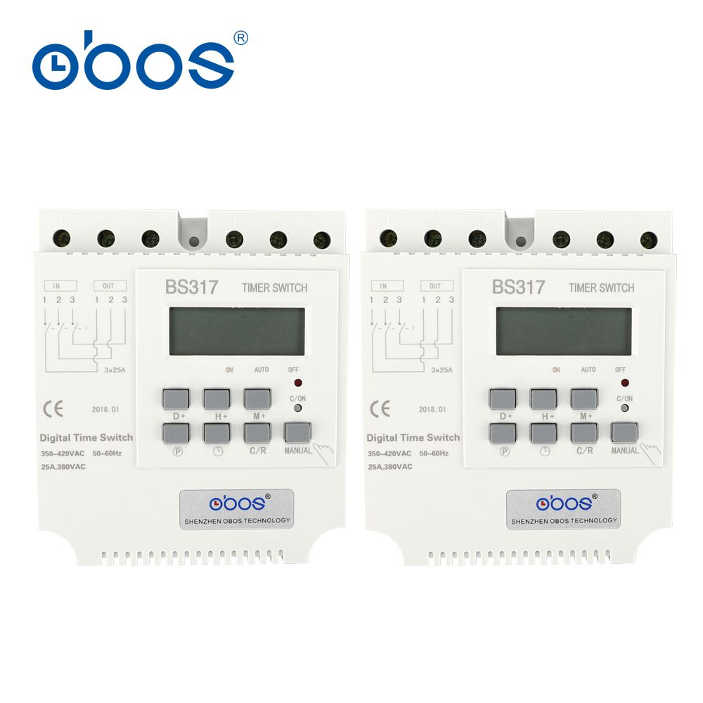 beautiful good quality good credit 380V 25A three phase timer switch electronic timer relay with 17 times on/off per day/weekly