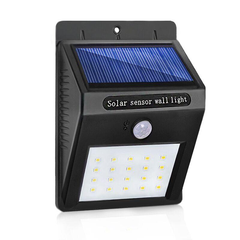 LED Solaire Lampe Étanche PIR Motion Sensor Jardin Lumière Propulsé Mur Lampe pour Éclairage Extérieur LED Solaire Lumière