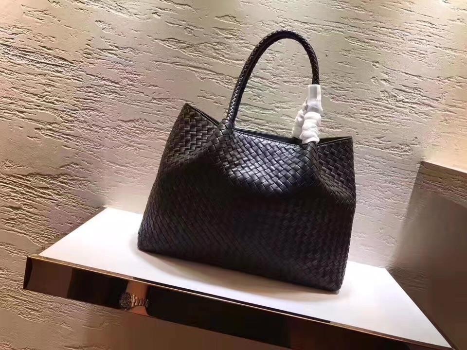 Women Handbag Genuine Leather Lambskin Soft Knitted Female Shoulder Carry Tote Shopping Purse Bag Set Luxury Brand Designer