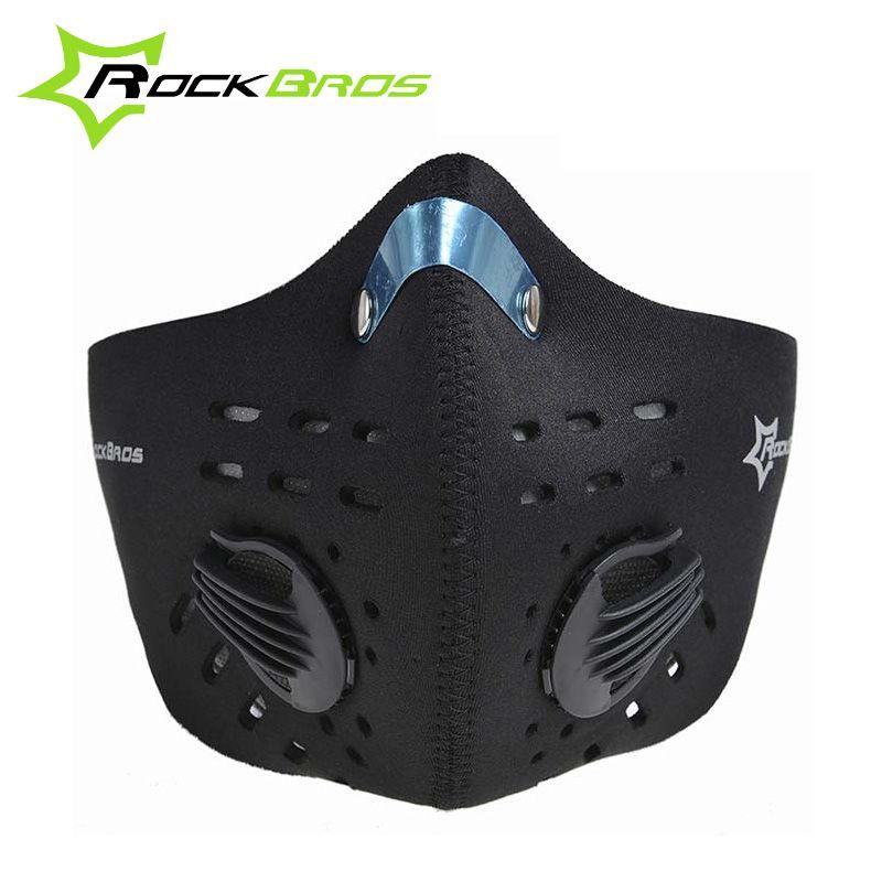 RockBros Aktivkohle Maske Dust Winddicht Laufen Radfahren Maske Half Face Outdoor Sports Fahrrad Maske & Filter 8 farben