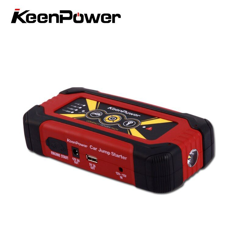 Keenpower High Quality Mini Car Jump Starter 12V Car-Stlying Starting Device 600A Charger Car Battery Booster Buster