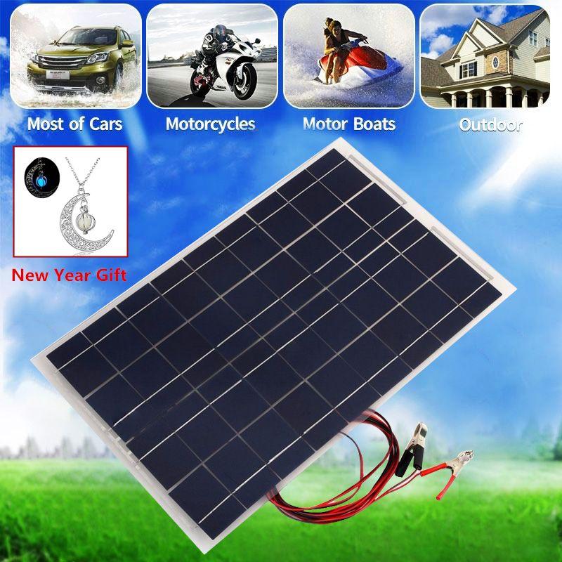 12V 30W Solar Panel PolyCrystalline Semi Flexible Solar Battery for Car Boat Emergency Lights Solar Systems Solar Module