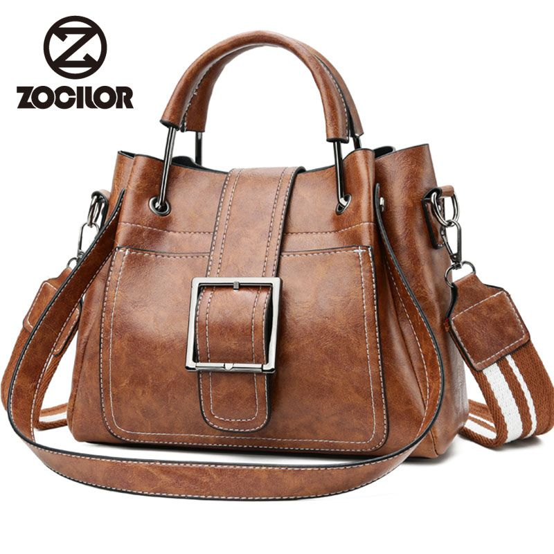 Fashion Women Messenger Bags Vintage Belts Shoulder Bags Women Handbags Designer high quality PU Leather <font><b>Ladies</b></font> Hand Bags Sac