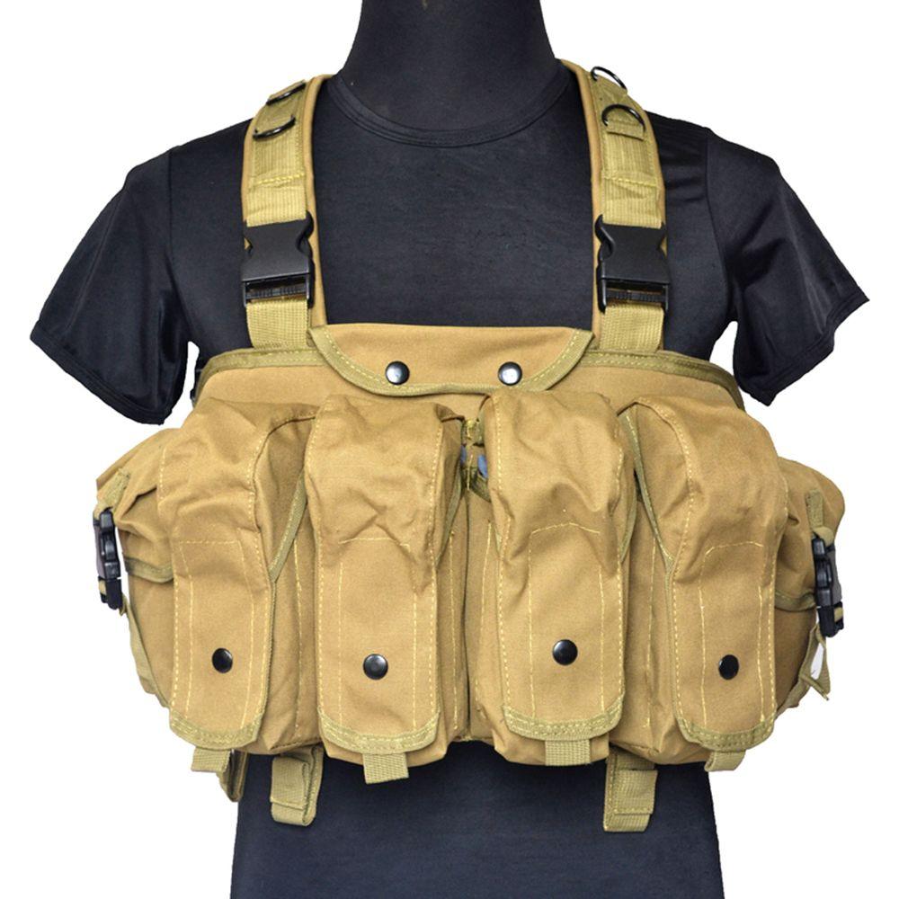 Militärische Ausbildung Airsoft Weste Taktische Chest Rig Trag AK Geräte Rifle Mag Ammo Träger Jagdausrüstung