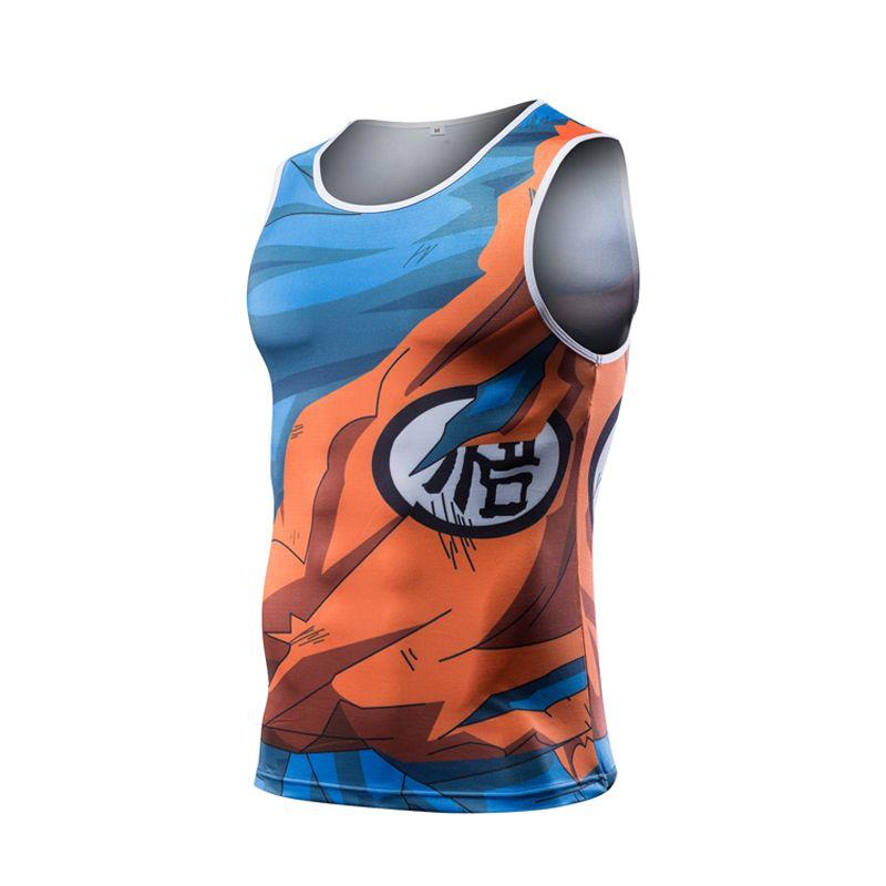 2017 New Men Dragon Ball Z Tank Tops Son Goku Vegeta Bodybuilding T Shirt Super Saiyan Shirt Summer Clothes Homme Tee