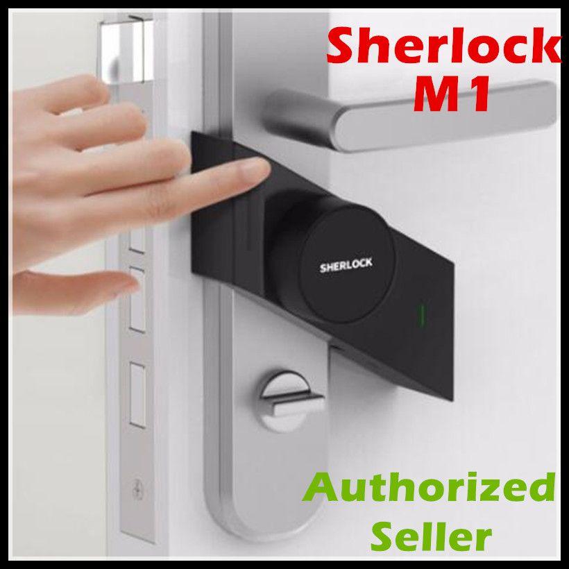 In Stock Xiaomi Sherlock Smart lock M1 mijia Smart door lock Keyless Fingerprint+Password work to Mi home app phone control