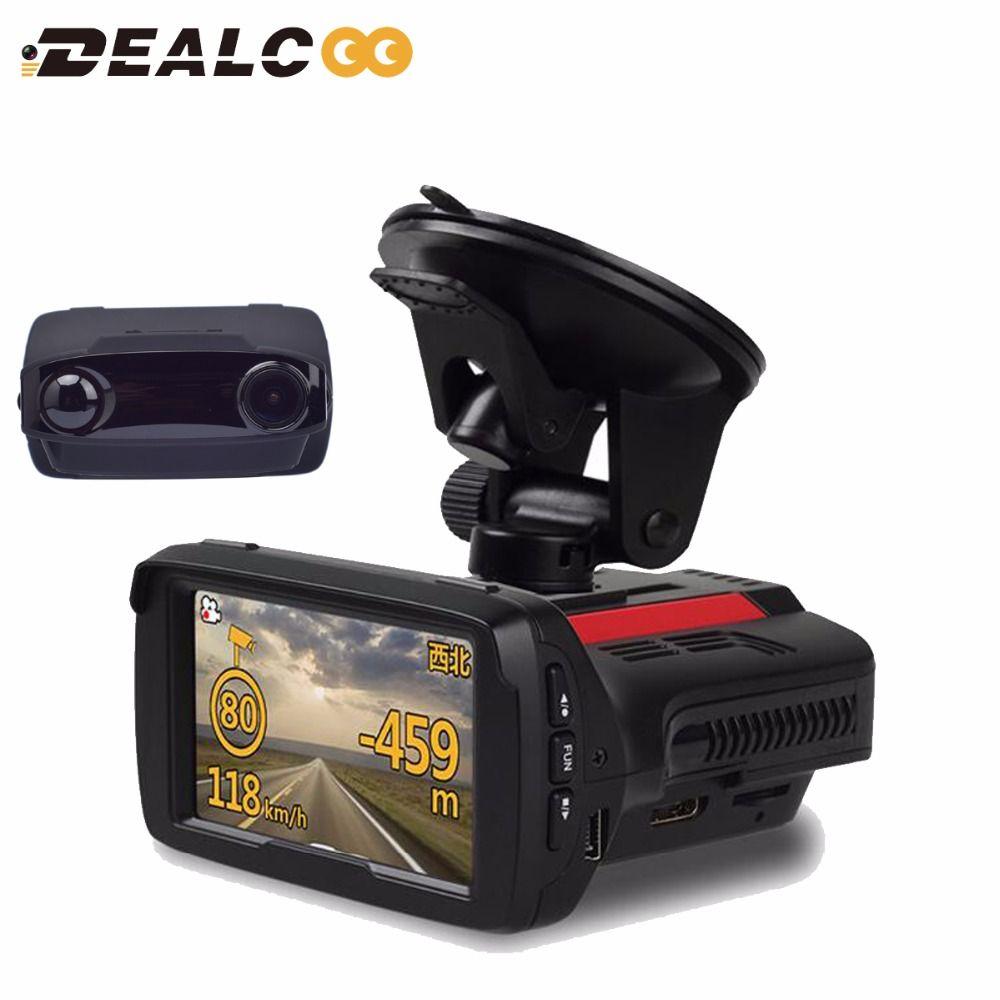 ( Russian Language & Voice) Car DVR Radar detector GPS Logger 3 in 1 1080P Ambarella A7LA50 Auto Video Recorder Registrar Camera