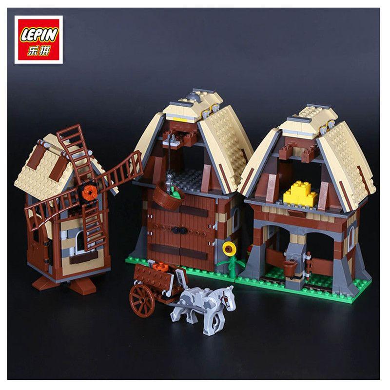 Lepin 16049 Genuino 742 Unids Serie Creativa El Pueblo Molino Conjunto Raid 7189 Bloques de Construcción Ladrillos de Juguetes Educativos Como Divertido regalos
