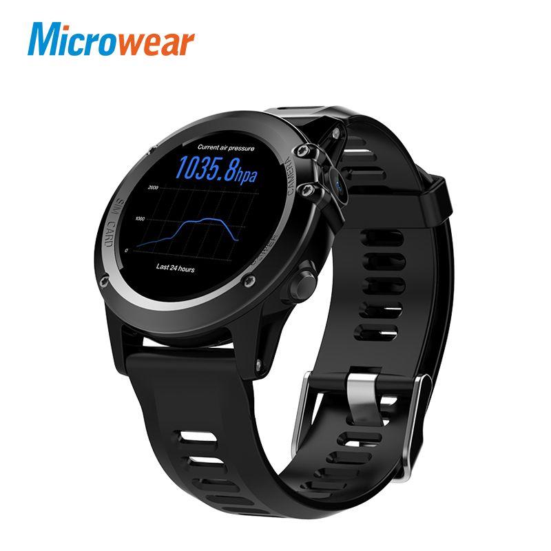Microwear H1 montre intelligente Android 4.4 étanche 1.39 MTK6572 BT 4.0 3G Wifi GPS SIM pour iPhone Smartwatch hommes appareils portables