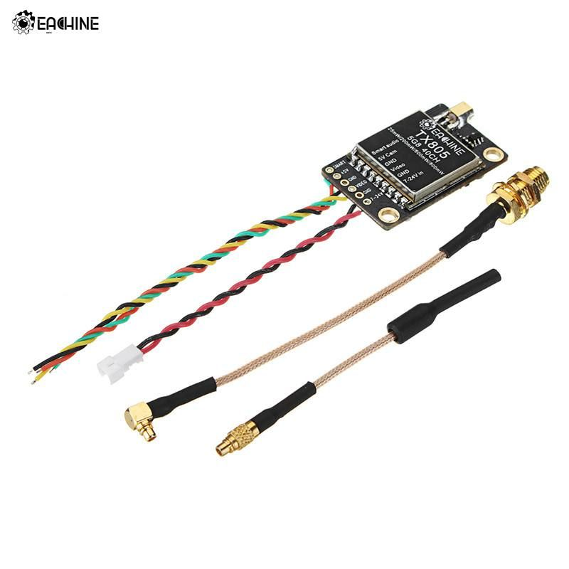 Eachine TX805 5.8G 40CH 25/200/600/800mW FPV Transmitter VTX LED Display Support OSD/Pitmode/Smartaudio