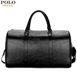 VICUNA POLO повседневные деловые мужские дорожные сумки большой емкости сумки для путешествий черные кожаные мужские s duffel сумка для короткой по...