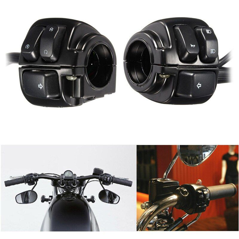 Factory Sale Motorcycle Motor 25mm Diamater Handlebar Control Switch With Wiring Harness For Harley Motorcycle Switches