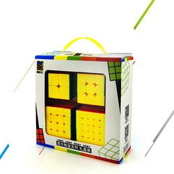 Kecepatan Kubus Bundel, moyu Mofang Jiaoshi MF2S 2X2 MF3S 3X3 MF4S 4X4 MF5S 5X5 Tanpa Stiker magic Cube 234 dengan Kotak Hadiah