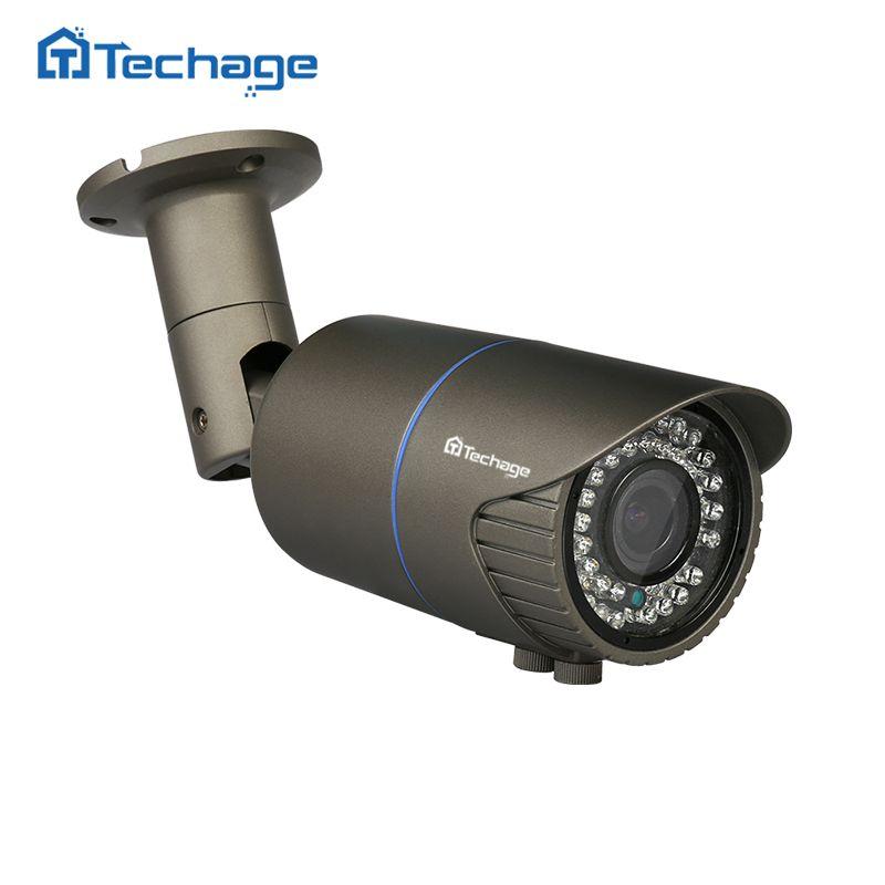 Techage 2.0MP 4.0MP 2,8-12mm Vario Objektiv 48V POE IP Kamera Im Freien Wasserdichte P2P ONVIF CCTV Sicherheit überwachung Kamera