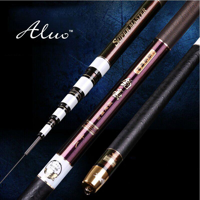 Fishing rod carbon taiwan fishing rod3.6~7.2M ultra-light 4 hard fishing rod hand pole fishing tackle set