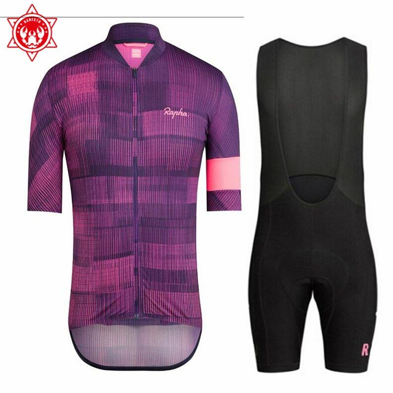 2018 Rapha Pro Cycling Jersey Bicycle Clothing Short Sleeve (bib) Shorts Quick Dry Breathable Ropa Ciclismo
