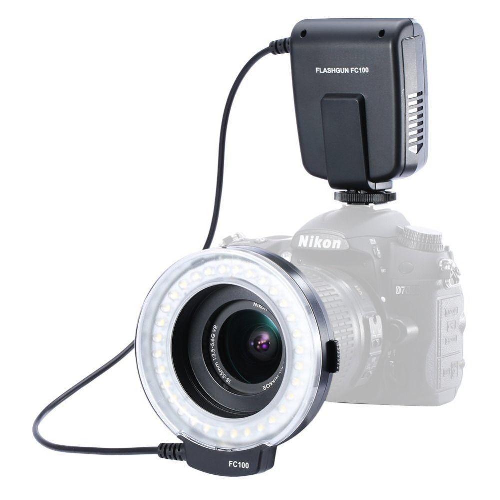 Meike FC-100 LED Macro Ring Flash Light pour Canon Nikon Olympus Panasonic Pentax