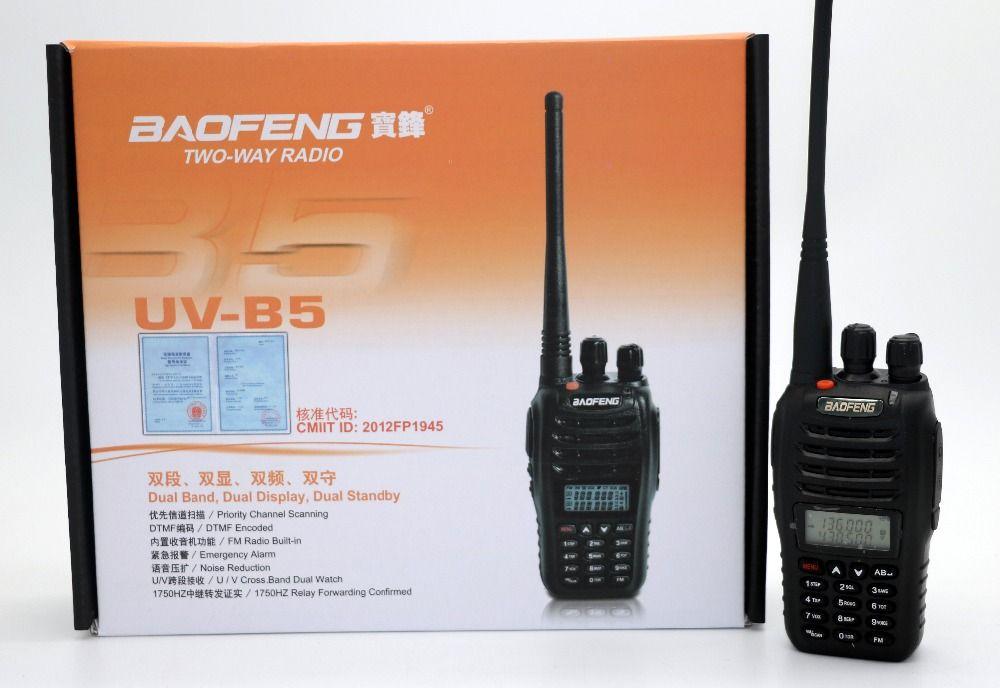 BaoFeng UV-B5 Talkie Walkie UHF VHF Double Bande UVB5 CB Radio 99CH Double Affichage FM Émetteur-Récepteur Radio pour la chasse voyage