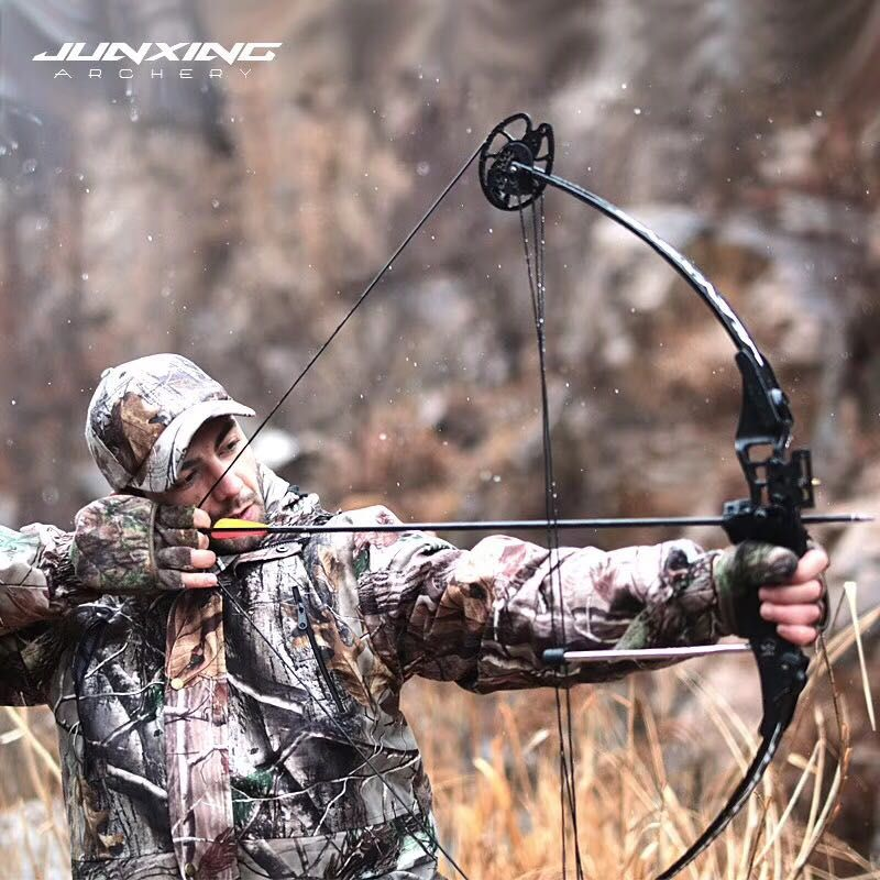 Powerful Compound Bow 30-45 lbs Darts Adjustable Archery Bow Outdoor Compound Bow and Arrow Hunting Shooting Fishing Dart