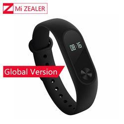 Mondial Version Xiaomi Mi Bande 2 Miband Mi Band2 Bracelet Bracelet Intelligent Moniteur de Fréquence Cardiaque Fitness Tracker Touchpad OLED Bracelet