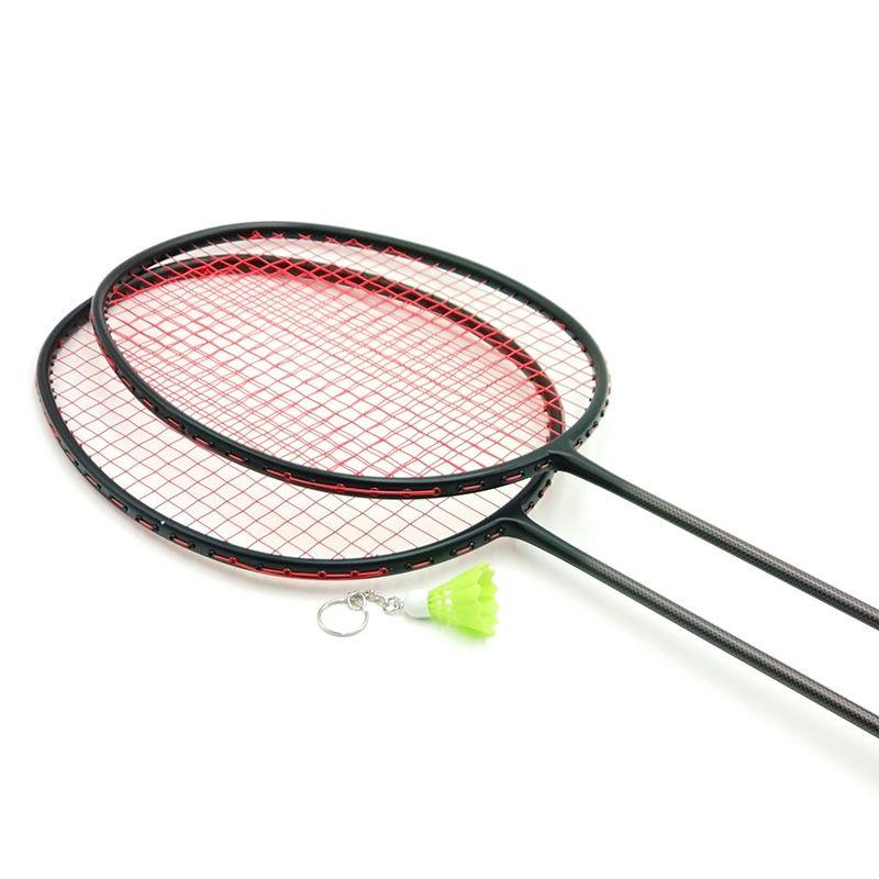LOKI VT Series Black Carbon Badminton Racket 6U 72g Super Light Training Badminton Racquet 22-30 LBS with String and Bag