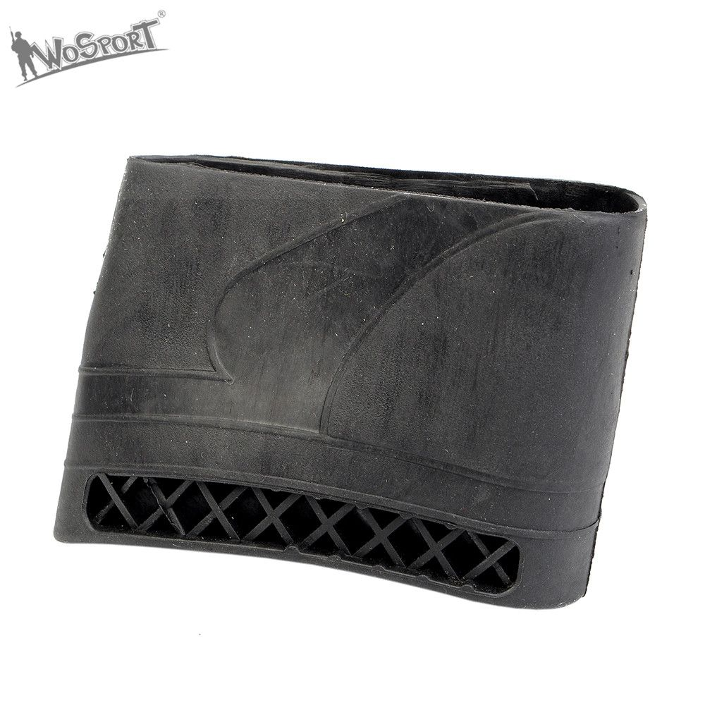WoSport Hunting Rifle Rubber Recoil Pad Slip-On Buttstock Outdoor Tactical Rubber Buffer Pads Stock Accessories Black Color