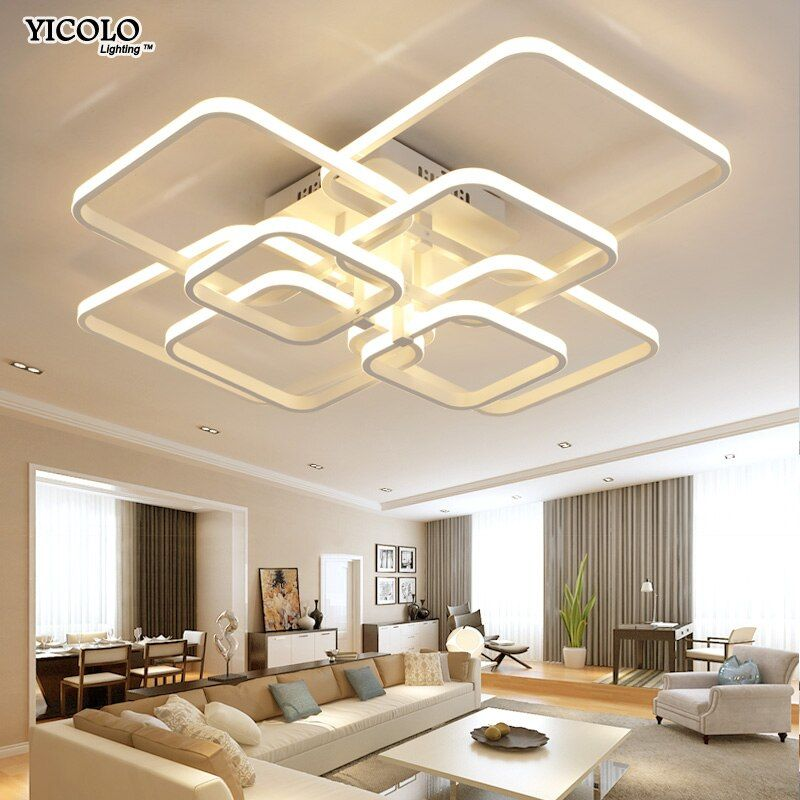modern led chandelier with remote control acrylic <font><b>lights</b></font> For Living Room Bedroom Home Chandelier ceiling Fixtures Free Shipping
