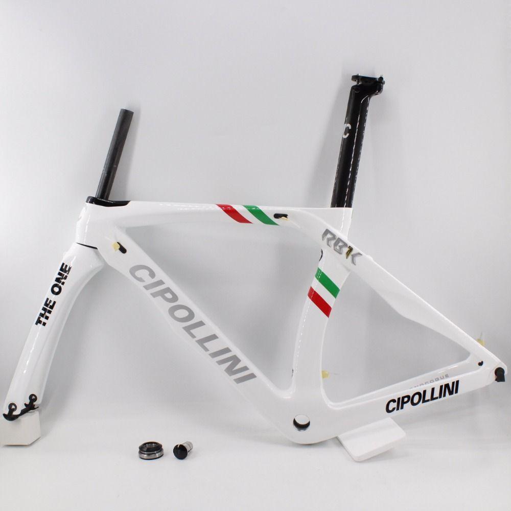 Marke Neue weiß 700C Straße fahrrad T1100 3 karat full carbon fiber bike carbon rahmen leichteste gabel + sattelstütze + clamp + headsets Freies schiff
