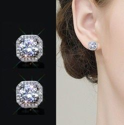 Sale fashion jewelry 925 silver Water droplets wild carved female crystal from Swarovski high-end wedding jewelry earrings