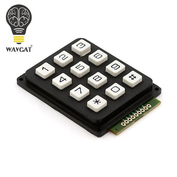 WAVGAT 12 Key Membran Schalter Tastatur 4x3 Matrix Array Matrix tastatur membran schalter tastatur