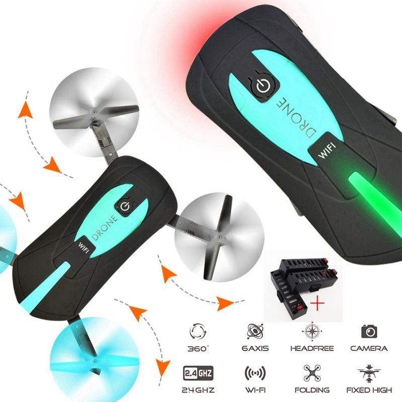 Mini Foldable <font><b>Selfie</b></font> Drone Elfie Pocket Drone With Camera Wifi Rc Helicopter Remote Control Toy Vs JJRC H37 Jy018 523 Quadcopter