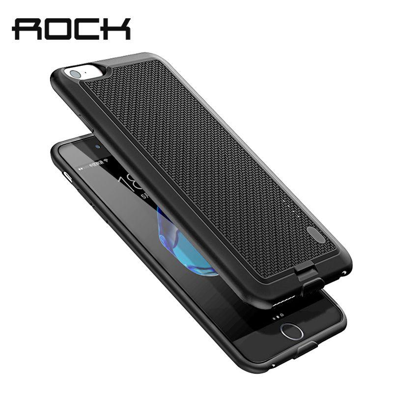 ROCK Batterie Cas Pour iPhone 7 6 6 S X Puissance Banque Charing Cas Pour iPhone X 6000 mAh Chargeur de Batterie Retour Cas couverture