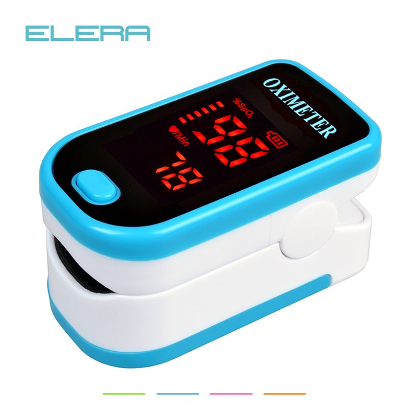 ELERA LED Fingertip Pulse Oximeter Blood Oxygen SPO2 PR Saturation Portable Oximetro Monitor oximetro de dedo <font><b>Health</b></font> Care