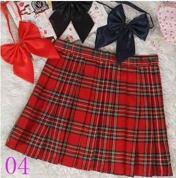 Preppy Style Japonais School Girl Plaid jupe plissée Taille Haute Court Tartan Jupes Saias
