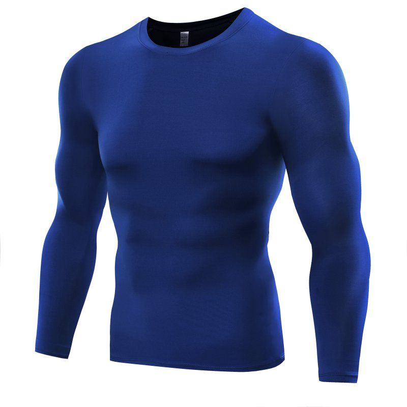 Men Compression Shirts Bodybuilding Weight Lifting Base Layer Fitness Tight Tops Men T-shirt Plus Size S-3XL