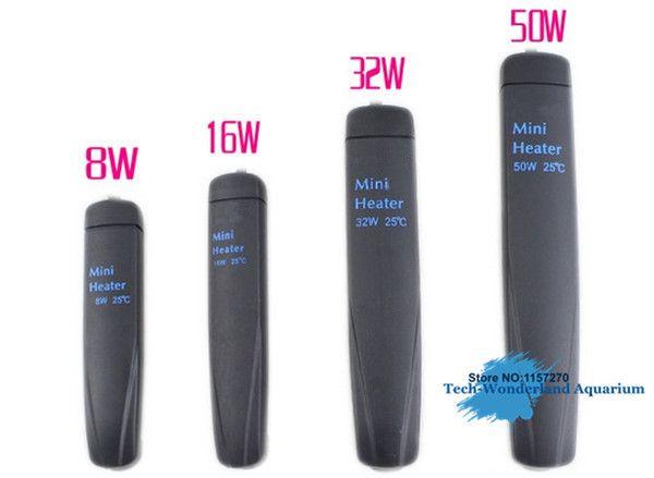 Automatic constant temperature submerge heater for <font><b>aquarium</b></font> turtle jar mini heating rod 8/16/32/50W