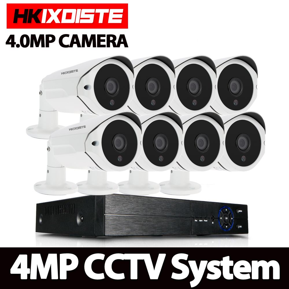 8CH 4MP AHD Security Cameras HD 4.0MP 36pcs IR Lens CCTV System Night Vision Outdoor Security Camera Vedio Surveillance DVR Kit