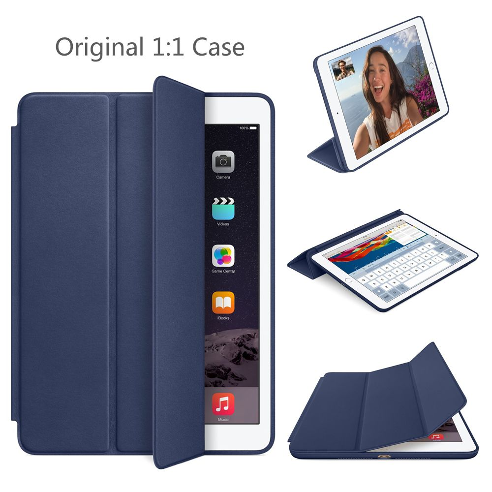 SZEGYCHX 9.7 inch Case for iPad Air 2 Original 1:1 Magnet Smart Auto Sleep Stand Flip Leather Cover A1566 A1567 Shell With Logo
