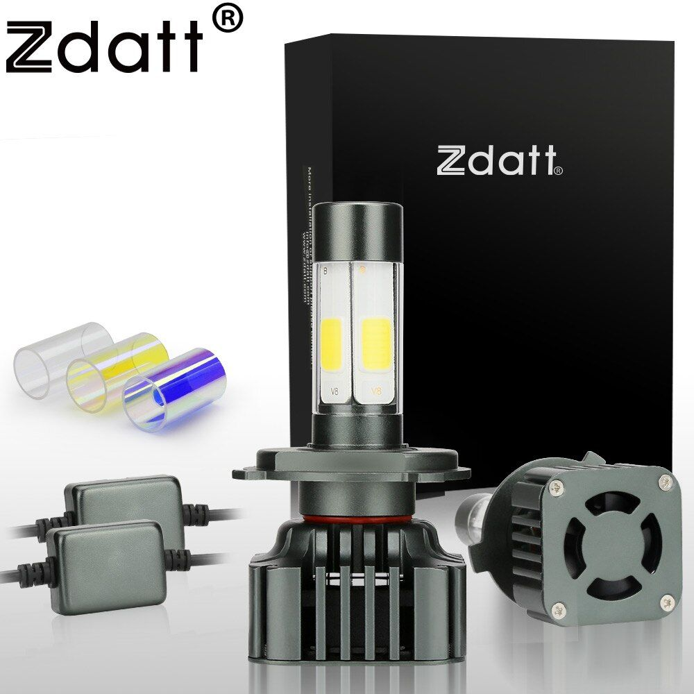 Zdatt Super Bright H4 Led Bulb 100W 12000LM Car Led Headlights H7 H8 H9 H11 9005 HB3 12V Fog Lamp Automobiles Canbus 3 Colors