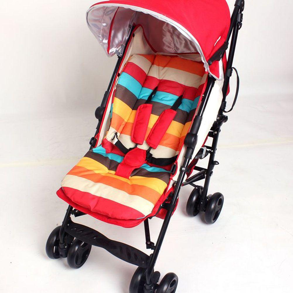 Детские автомобильные сиденья коляски детской коляски сиденье коляски Подушки хлопок Коврики Радуга Цвет мягкие толстые коляска Подушки