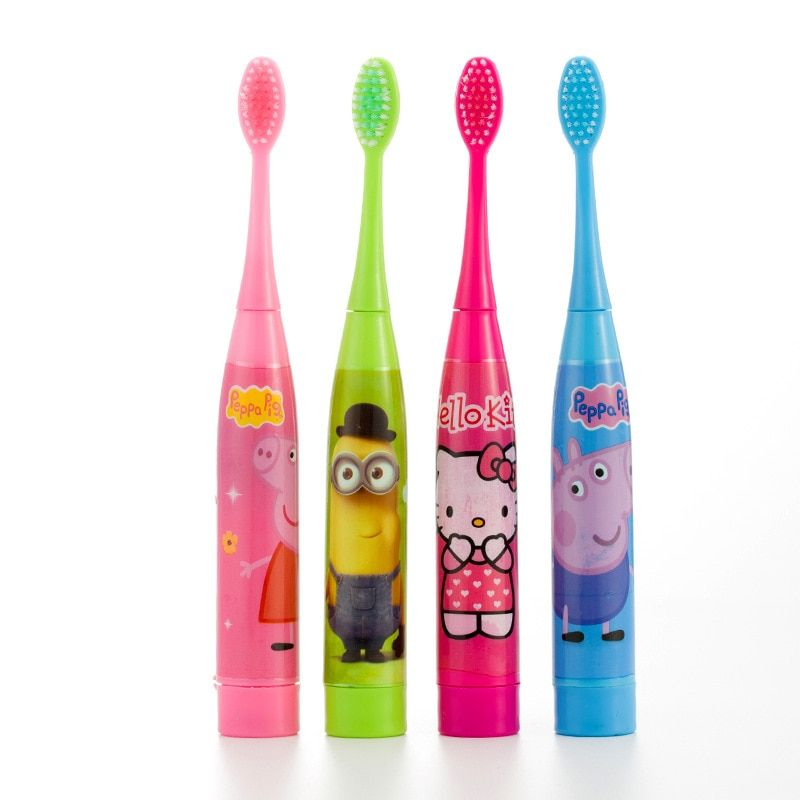 Children Electric Toothbrush Cartoon Pattern Double sided Tooth Brush Head Electric Teeth Brush For Kids with 2 pcs Heads
