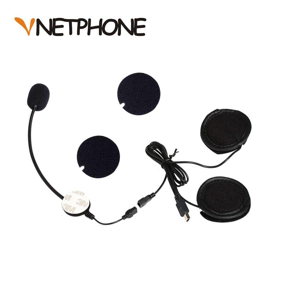 Casque Casco Capacete moto interphone accessoires 10 broches Mini USB Microphone haut-parleur casque remplacement pour VNETPHONEV8
