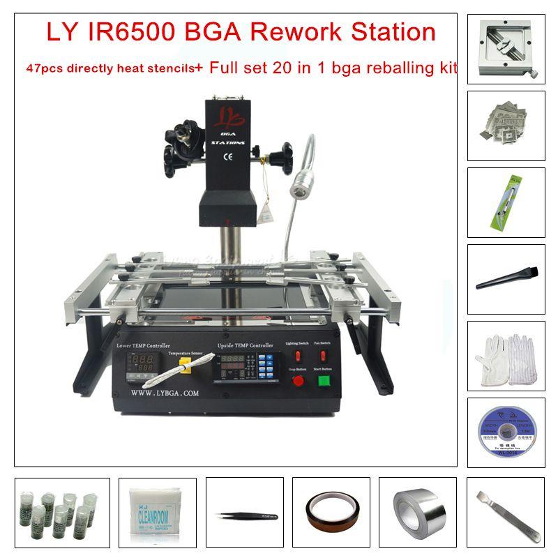 LY IR6500 V.2 Infrared IR BGA rework station for Motherboards Repair BGA Work +20 in 1 bga reballing kit for laptop game