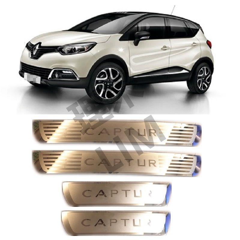 Convient pour Renault Captur Kaptur 2014 2015 2016 2017 2018 acier inoxydable éraflure plaque seuil de porte couverture autocollant voiture accessoires