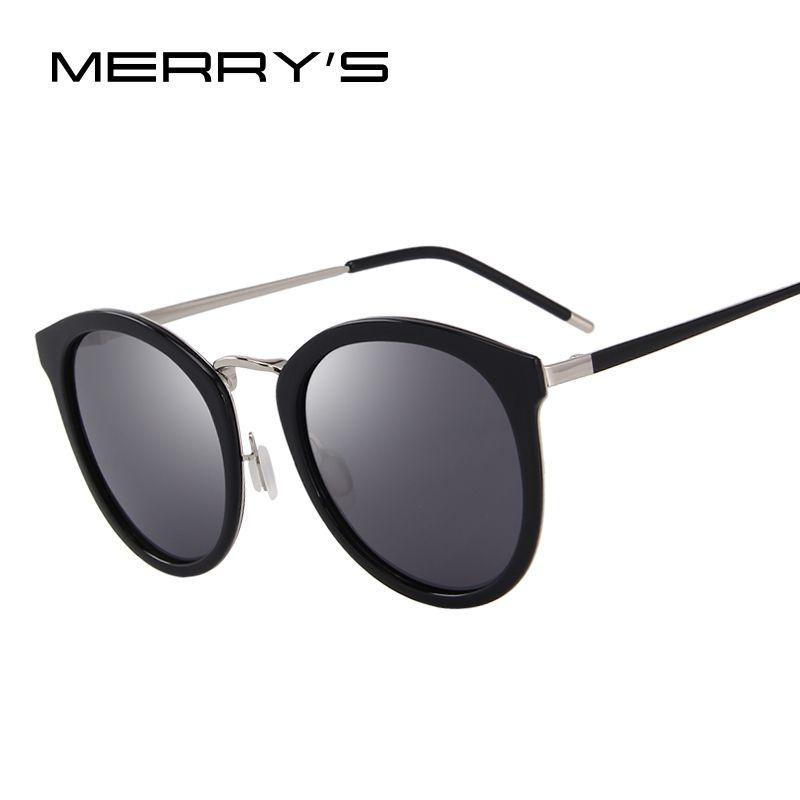 MERRY'S Women Brand Designer Cat Eye Sunglasses Fashion Polarized Sun Glasses Metal Temple 100% UV Protection S'6168