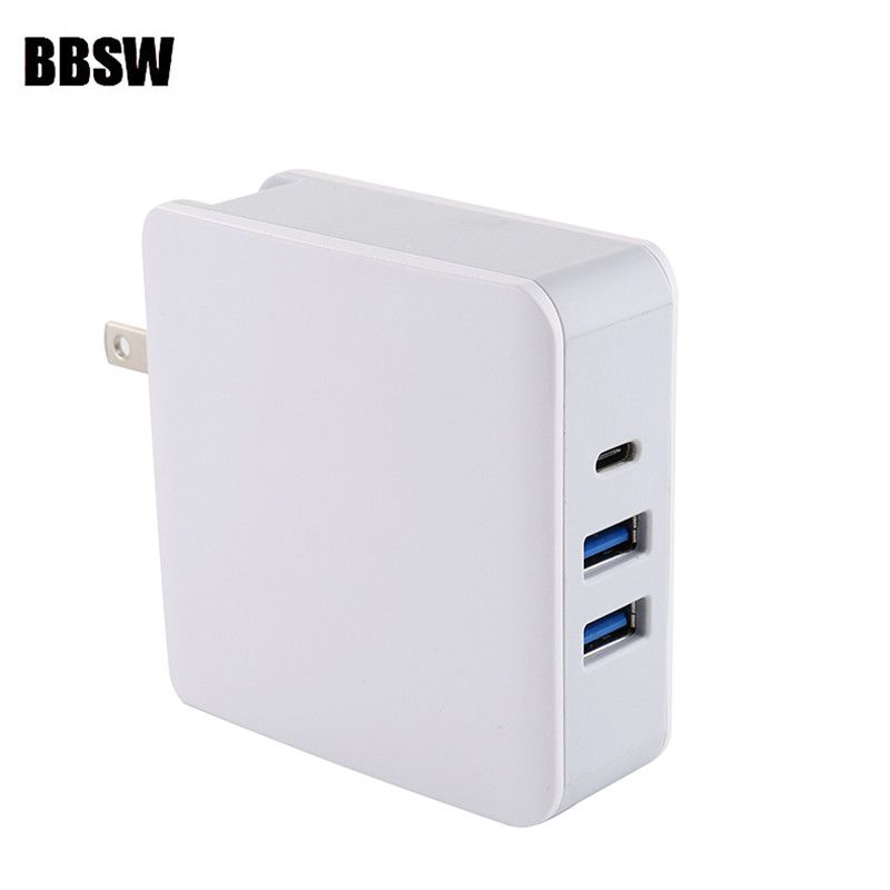 BBSW 65W USB Type-C/PD + QC 3.0 USB Wall Fast Charger For iPhone X 8 8 Plus MacBook Pro Nintendo Switch USB-C PD Fast Charger